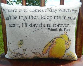 Winnie the Pooh Pillow -  Nursery Gift - Custom Baby Gift - Pooh Decor