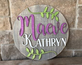 Laser Cut Name Sign