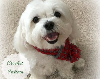 Dog Scarf Pattern, Simple Scarf Pattern, Christmas Crochet Pattern, Crochet Christmas, Beginner Crochet, Easy Crochet Scarf, Crochet Pattern