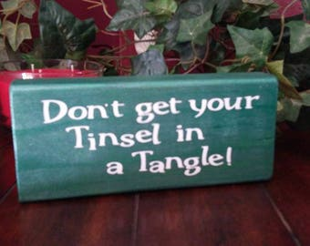 Cute Christmas sign, green sign, homemade sign, homemade christmas sign