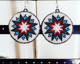 Beaded Rosette earrings