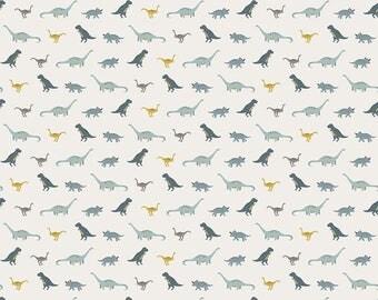 1 Yard Fossil Rim by Deena Rutter  for Riley Blake Designs-6614 Tiny Dino Cream