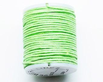 1 coil of cotton waxed cotton waterproof green 10 m