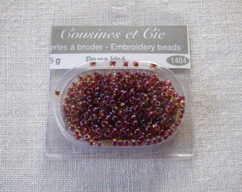 Beads embroidery cousins and companies plum iridescent 1404