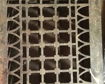 Antique Floor Grate, Architectural Salvage, arches and squares