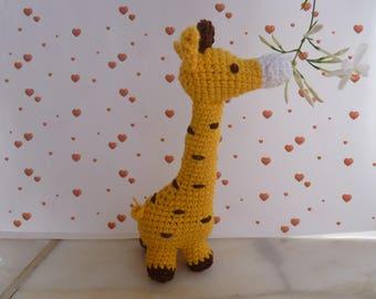 crochet rattle giraffe