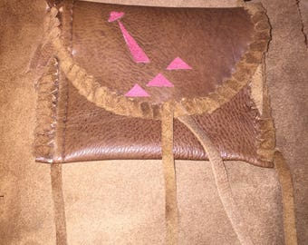Orien's Belt / UFO Theme Handmade Leather Navajo Style Medicine Bag