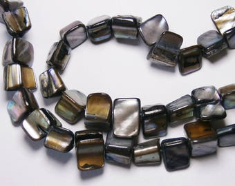 Pearl beads, strand 35cm, shade of grey