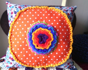 cushion poppins Bohemian cotton crochet