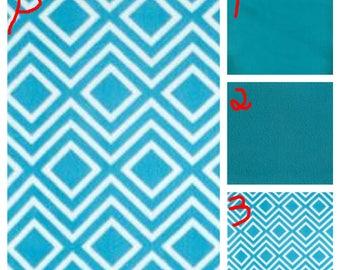 Blue, Pink, or Purple Diamond - Teen/Adult Fleece Weighted Blanket