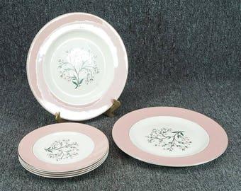 "Vintage Homer Laughlin Cavalier 4 Salad Plates 7 1/4"" & 2 Dinner Plates 10 1/4"""