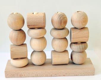 Toddler Activity Toy, Montessori busy toy, Waldorf , Sort Shapes, Eco Friendly Toy, Wooden Stacking Toy, Learn Colors, Waldorf Learning
