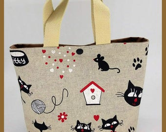 "bag ""cats in love"" for transport in love"