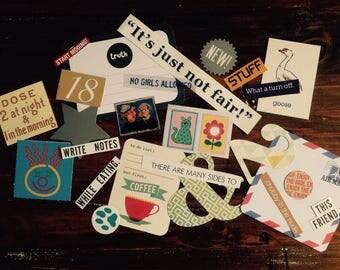 Paper Craft Kit, Scrapbooking Ephemera (25 pieces), Journalling Embellishments, Craft Kit, Junk Journal, Glue Book