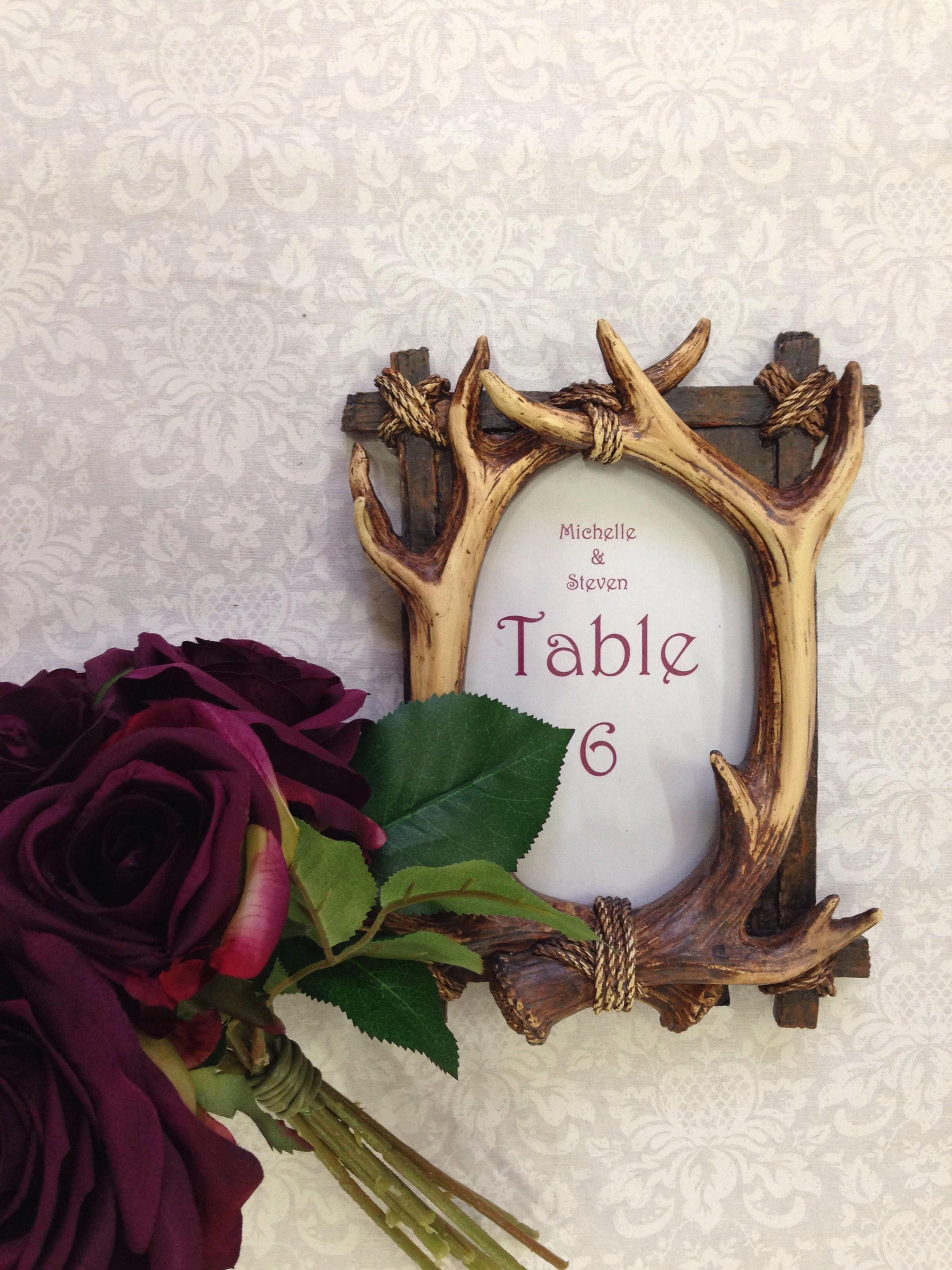 New Wedding Table Numbers Frame, Antler Frame for Wedding Decor ...