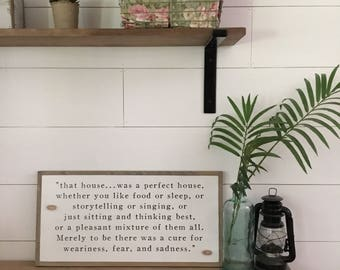 PERFECT HOUSE 1'X2' J.R.R. Tolkien Quote   distressed rustic wall decor   painted shabby chic wall plaque