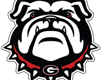 "Georgia Bulldog 4"" Premium Die-Cut Vinyl Decal / Sticker"