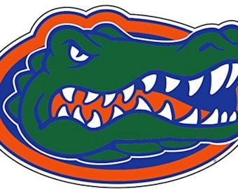 "Florida Gators  4"" Premium Die-Cut Vinyl Gator Head Decal, Yeti"