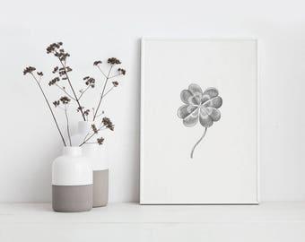 Screenprint - four leaf clover - 2017