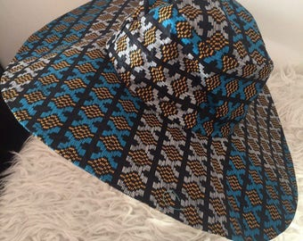 African wax ethnic Hat