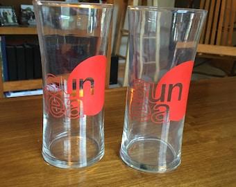 Set of 2 Sun Tea glasses