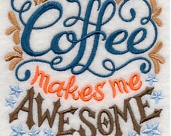 Coffee Makes Me Awesome Flour Sack Towel Kitchen