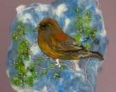 Small Bird on a Bough Fel...