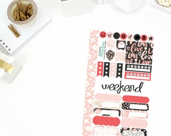 Love Letters Personal Weekly Kit Stickers! Perfect for your Erin Condren Life Planner, calendar, Paper Plum, Filofax!