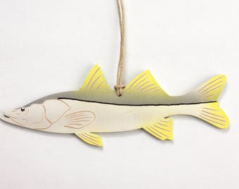 Snook Fish Christmas Ornament