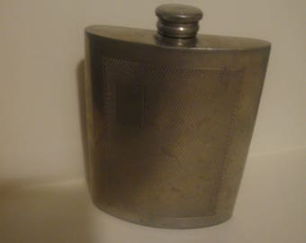 Vintage Sheffield English Pewter Flask 6oz