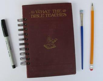 prayer journal, antique Bible story book prayer journal, Bible study journal, prayer junk journal - antique prayer journal journal