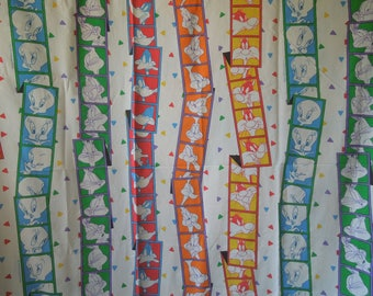 SALE 90s Looney Tunes Flat Bed Sheet and Pillow Case