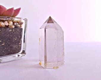 Self Standing Smoky Quartz Crystal Point with Iron Inclusions