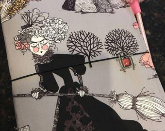 The Ghastlies Fabric Traveler's Notebook Fauxdori