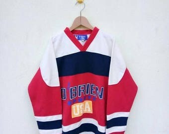 On Sale 20% Off Vintage O'Brien Usa Sport V Neck Long Sleeve/Sport Shirt/Ellesse/Fila Colors