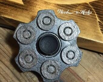 Revolver Fidget Spinner 6 shot gun hunter