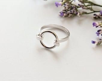 Circle of Life Ring Circle Ring Silver Circle Design Ring Open Circle Ring Circle Karma Ring Eternity Ring Round Ring Aleli Jewels