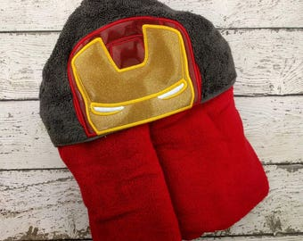 READY TO SHIP Ironman Children's Hooded Towel