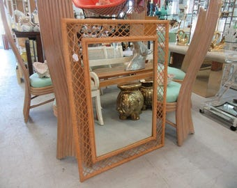 Wrapped Bamboo Mirror