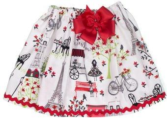 Paris  birthday skirt ,  skirt,  Paris  Girl birthday skit,  Paris girl skirt,   Paris, toddle Skirt,  girl skirt, baby skirt