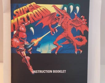 SNES Super Metroid - Replacement Manual