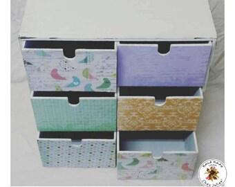 Jewellery box - Craft box - Mini chest of drawers