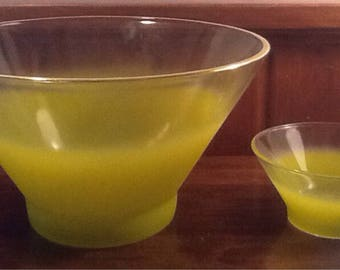 Vintage, Retro, Blendo Chip and Dip Set, Limey Green, Entertaining, Buffet, Tailgating, serving bowl