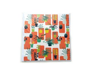 House Plant Note Card / Greeting Card / Blank Cards / Note Card / Blank Note Cards / Greetings Cards / All Occasion Cards / Blank Thank You