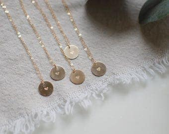 Valentine Heart Tiny Circle Necklace