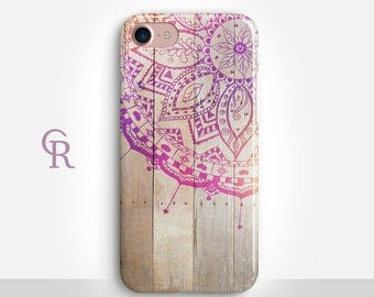 Mandala iPhone 7 Case For iPhone 8 iPhone 8 Plus - iPhone X - iPhone 7 Plus - iPhone 6 - iPhone 6S - iPhone SE - Samsung S8