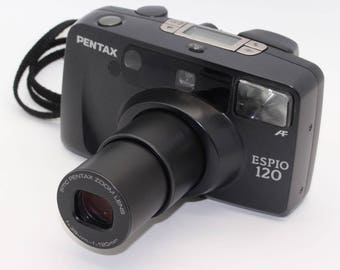Pentax Espio 120 35mm Film Zoom Auto Focus Camera with case and manual - Tested and very good condition – Lomography