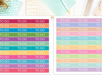 To Do Header Stickers, To Do Headers Planner Stickers  – Sticker Sale, Matte Glossy, Sized for the Erin Condren - 5402