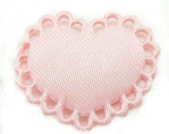 1 x applique pink heart