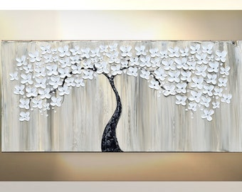 Paintings, TREE Painting, Painting on Canvas, Original art, artwork, canvas flower art, painting, abstract Wall Art, heavy texture, Katey